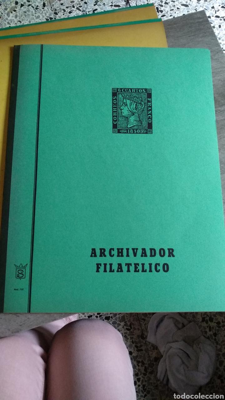 ARCHIVADOR FILATELICO PARA PLIEGOS (Sellos - Material Filatélico - Álbumes de Sellos)