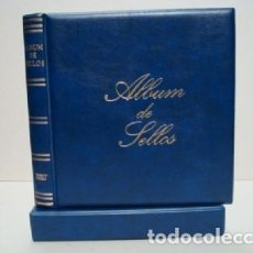 Sellos: ALBUM SELLOS BBB BEUMER. 15 ANILLAS. COLOR AZUL.. Lote 222037311