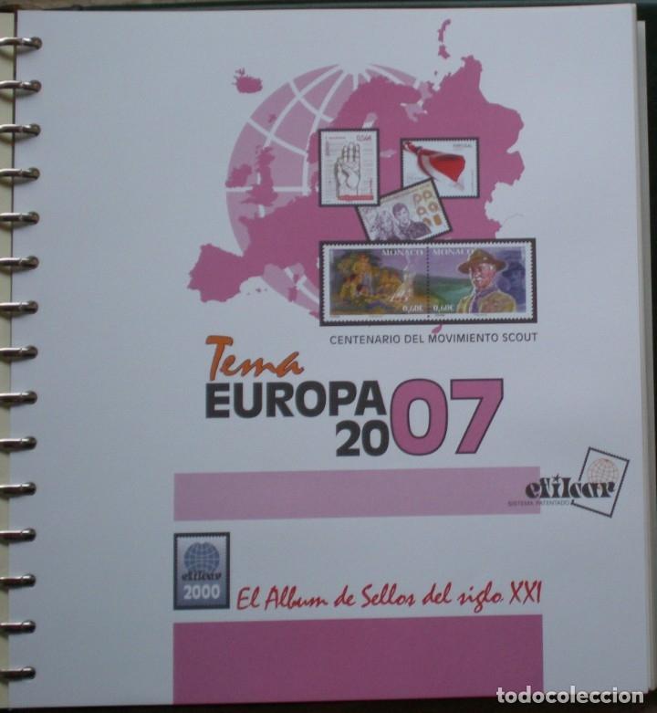 HOJAS - TEMA EUROPA (CEPT) AÑO 2007 - MARCA EFILCAR - NUEVAS SIN UTILIZAR (Sellos - Material Filatélico - Álbumes de Sellos)