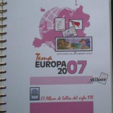 Sellos: HOJAS - TEMA EUROPA (CEPT) AÑO 2007 - MARCA EFILCAR - NUEVAS SIN UTILIZAR. Lote 172149334