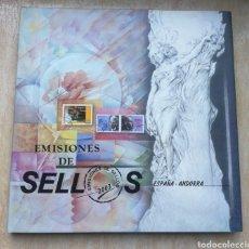 Sellos: LIBRO OFICIAL DE CORREOS AÑO 2003 SIN SELLOS Y CON TODOS LOS FILOESTUCHES. Lote 179403920