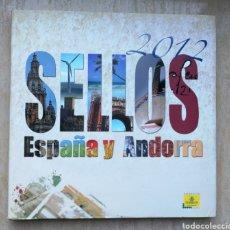 Sellos: LIBRO OFICIAL DE CORREOS AÑO 2012 SIN SELLOS Y CON TODOS LOS FILOESTUCHES. Lote 179492451