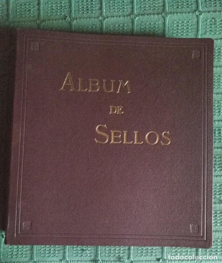 ALBUM CON ESTUCHE SELLOS DE ESPAÑA - PUIGFERRAT - 71 HOJAS CON 239 SELLOS SIN USO (Sellos - Material Filatélico - Álbumes de Sellos)