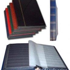 Sellos: CLASIFICADOR,HOJAS NEGRAS 48 PÁGINAS. A4 22.5 X 30.5 CM.. Lote 180996521