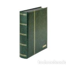 Sellos: CLASIFICADOR LINDNER. 60 PÁGINAS. HOJAS NEGRAS. COLOR VERDE. Lote 182579411