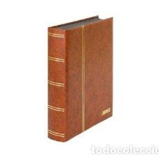 Francobolli: CLASIFICADOR LINDNER. 60 PÁGINAS.HOJAS NEGRAS.COLOR BEIGE. Lote 182579592