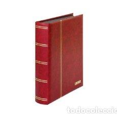 Sellos: CLASIFICADOR LINDNER. 60 PÁGINAS. HOJAS NEGRAS.COLOR ROJO.. Lote 182579752