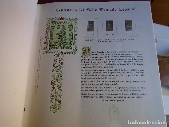 Sellos: IMPORTANTE LOTE DE 2 ALBUMES PARA SELLOS MARCA A.OLEGARIO CON HOJAS. LEER INFORMACION - Foto 5 - 182848117