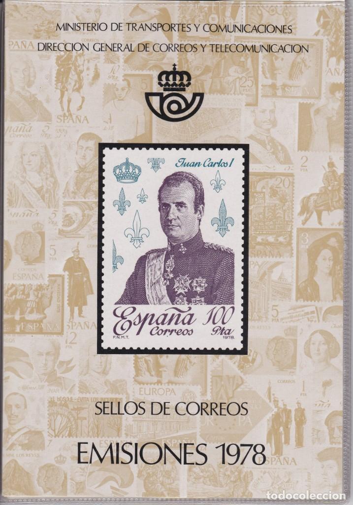 ESPAÑA 1978 - ÁLBUM - CARPETILLA EDITADO POR CORREOS CON LAS EMISIONES DE 1978. MUY RARO (Sellos - Material Filatélico - Álbumes de Sellos)