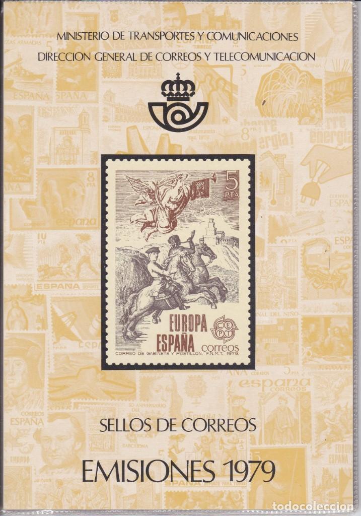 ESPAÑA 1979 - ÁLBUM - CARPETILLA EDITADO POR CORREOS CON LAS EMISIONES DE 1979. MUY RARO (Sellos - Material Filatélico - Álbumes de Sellos)