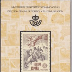 Sellos: ESPAÑA 1979 - ÁLBUM - CARPETILLA EDITADO POR CORREOS CON LAS EMISIONES DE 1979. MUY RARO. Lote 183409677