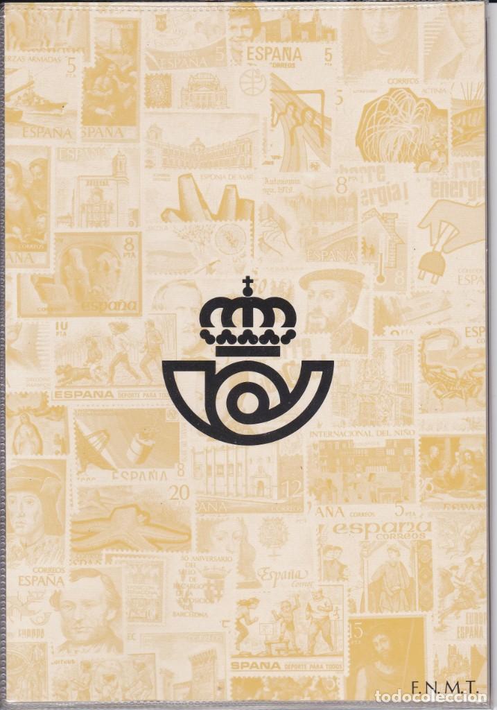 Sellos: ESPAÑA 1979 - ÁLBUM - CARPETILLA EDITADO POR CORREOS CON LAS EMISIONES DE 1979. MUY RARO - Foto 2 - 183409677