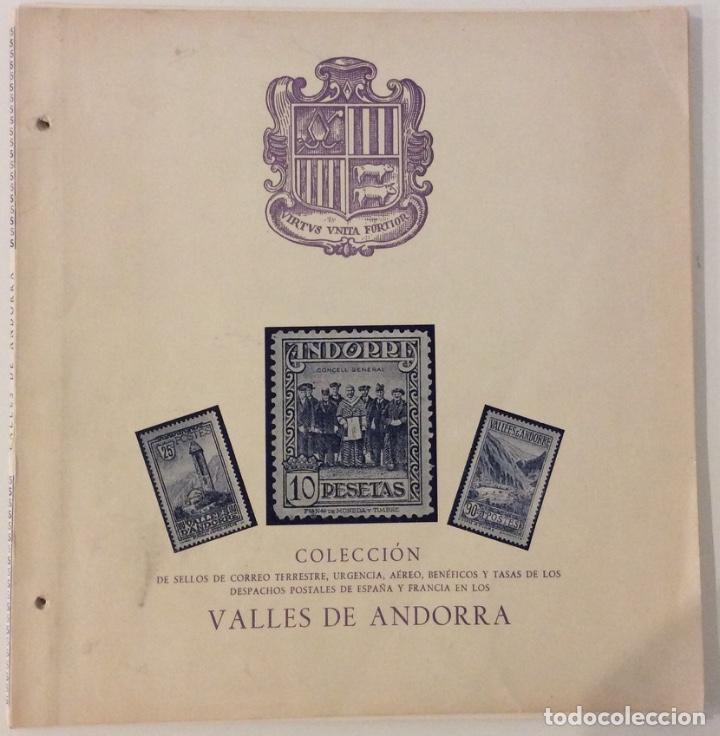 ÁLBUM COLECCIÓN VALLES DE ANDORRA. SIN SELLOS (Sellos - Material Filatélico - Álbumes de Sellos)