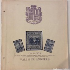 Timbres: ÁLBUM COLECCIÓN VALLES DE ANDORRA. SIN SELLOS. Lote 183502265
