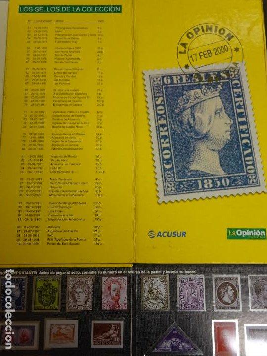 Sellos: ÁLBUM COMPLETO DE 100 SELLOS METÁLICOS HISTORIA POSTAL DE MÁLAGA 1850 2000. 630 GR - Foto 6 - 184136277