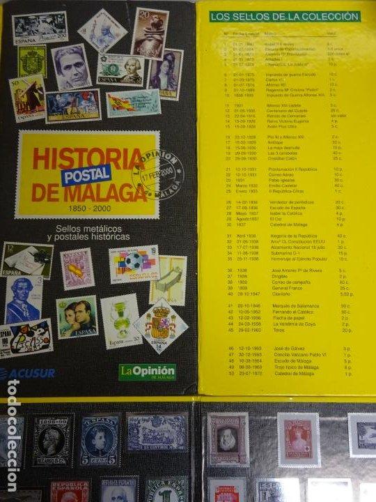 Sellos: ÁLBUM COMPLETO DE 100 SELLOS METÁLICOS HISTORIA POSTAL DE MÁLAGA 1850 2000. 630 GR - Foto 7 - 184136277