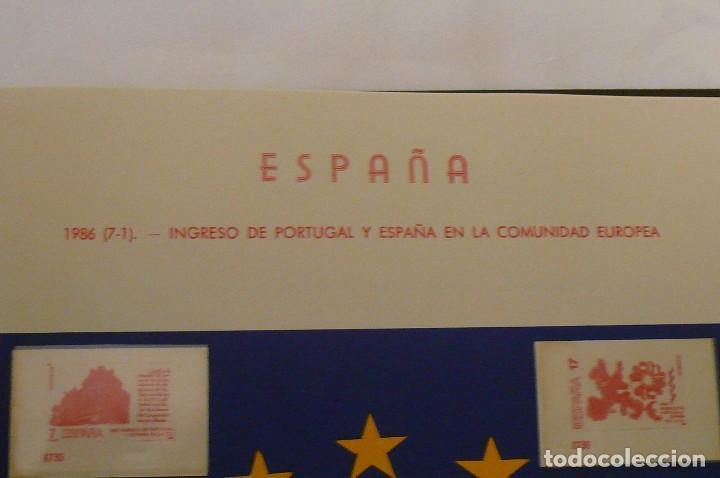 Sellos: 1 album de sellos sin sellos montado año 1986--1992 lote 6 - Foto 4 - 191589700