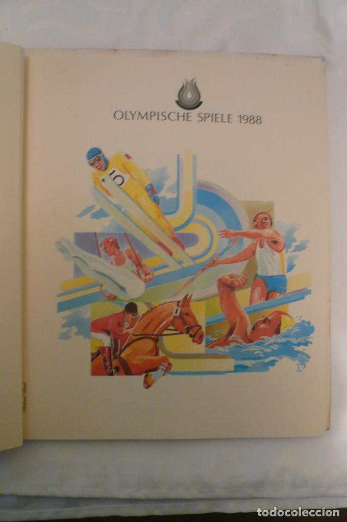 1 ALBUM DE SELLOS DE LA OLYMPIADA 1988 SEUL DE LA EMPRESA BOREK ALEMANA (Sellos - Material Filatélico - Álbumes de Sellos)