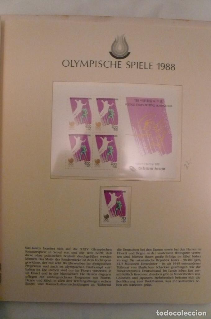 Sellos: 1 album de sellos de la olympiada 1988 seul de la empresa borek alemana - Foto 2 - 191596123