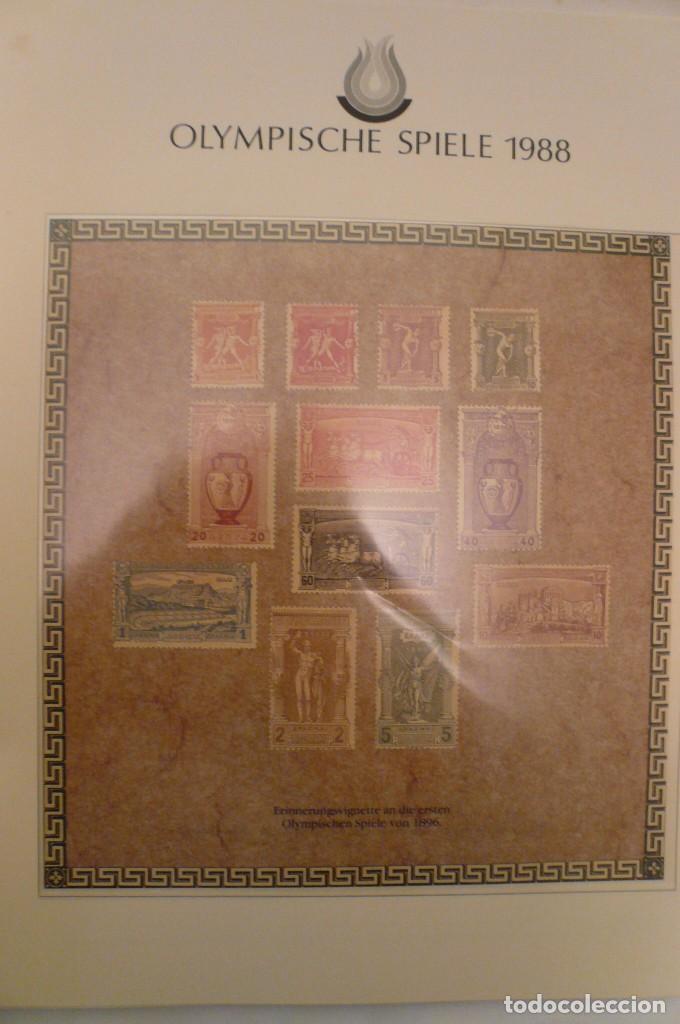 Sellos: 1 album de sellos de la olympiada 1988 seul de la empresa borek alemana - Foto 4 - 191596123