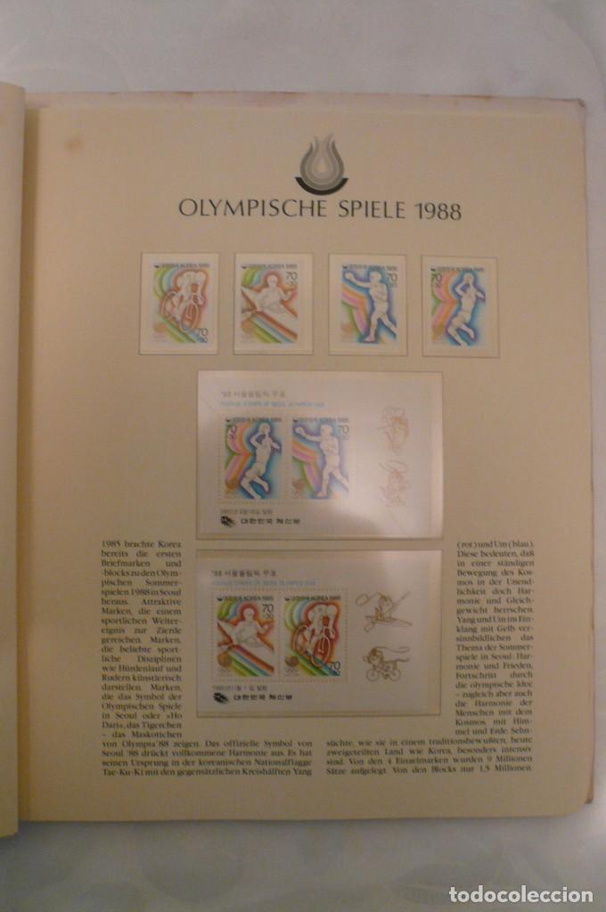 Sellos: 1 album de sellos de la olympiada 1988 seul de la empresa borek alemana - Foto 5 - 191596123