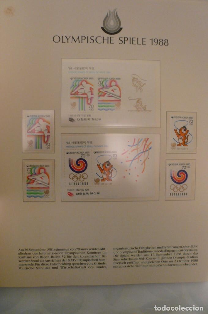 Sellos: 1 album de sellos de la olympiada 1988 seul de la empresa borek alemana - Foto 6 - 191596123