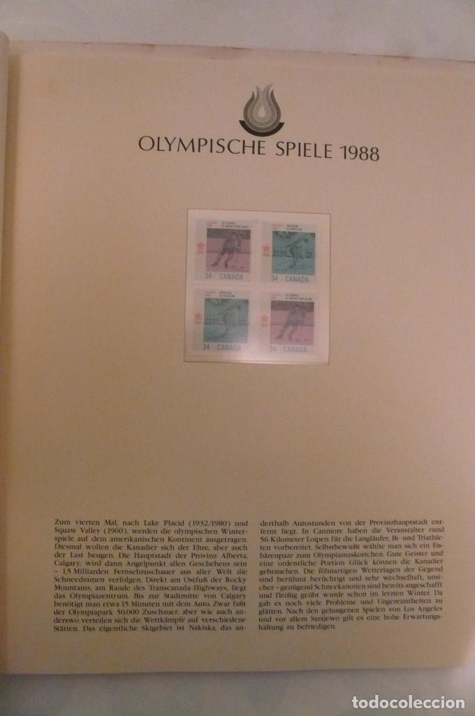 Sellos: 1 album de sellos de la olympiada 1988 seul de la empresa borek alemana - Foto 7 - 191596123