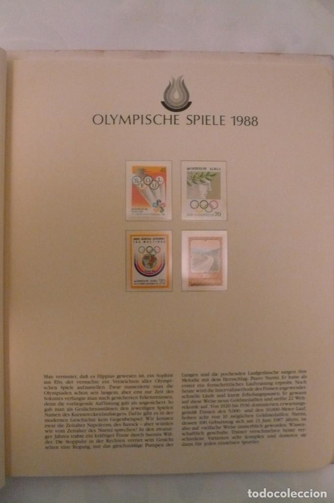 Sellos: 1 album de sellos de la olympiada 1988 seul de la empresa borek alemana - Foto 8 - 191596123