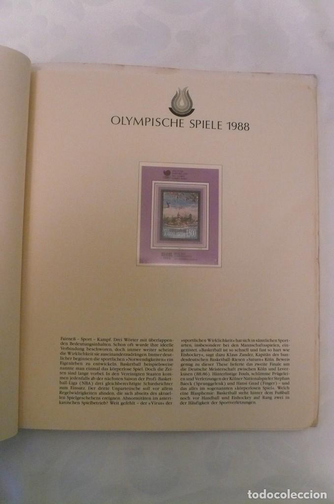 Sellos: 1 album de sellos de la olympiada 1988 seul de la empresa borek alemana - Foto 12 - 191596123