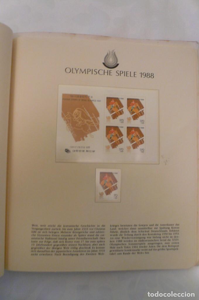 Sellos: 1 album de sellos de la olympiada 1988 seul de la empresa borek alemana - Foto 13 - 191596123