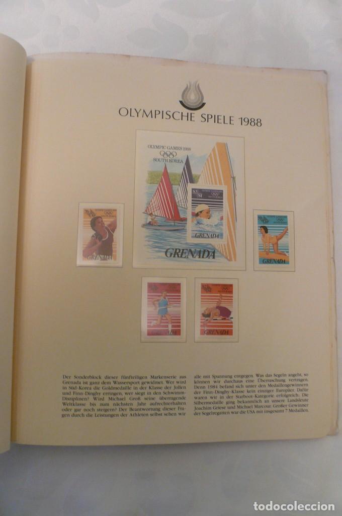 Sellos: 1 album de sellos de la olympiada 1988 seul de la empresa borek alemana - Foto 14 - 191596123