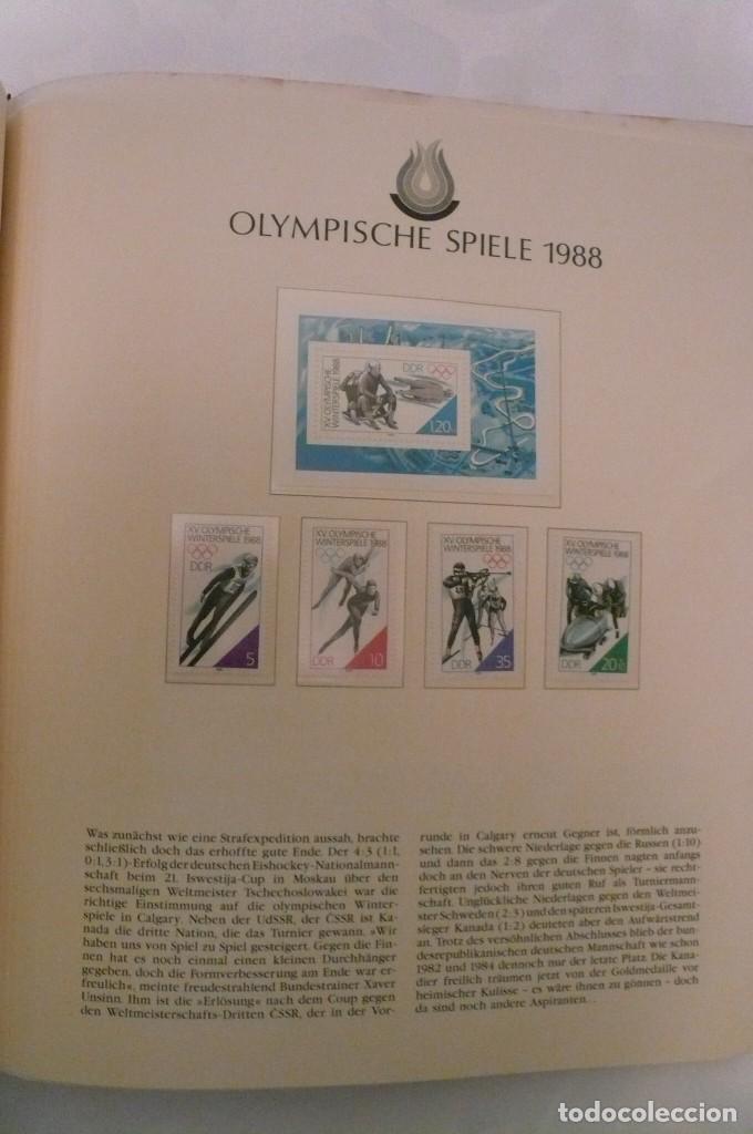 Sellos: 1 album de sellos de la olympiada 1988 seul de la empresa borek alemana - Foto 15 - 191596123