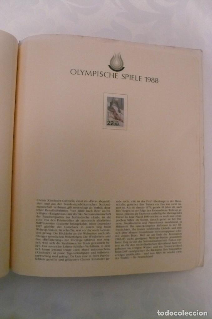 Sellos: 1 album de sellos de la olympiada 1988 seul de la empresa borek alemana - Foto 16 - 191596123