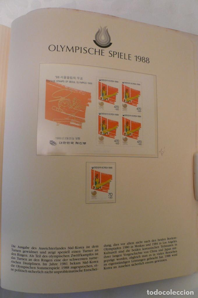 Sellos: 1 album de sellos de la olympiada 1988 seul de la empresa borek alemana - Foto 17 - 191596123