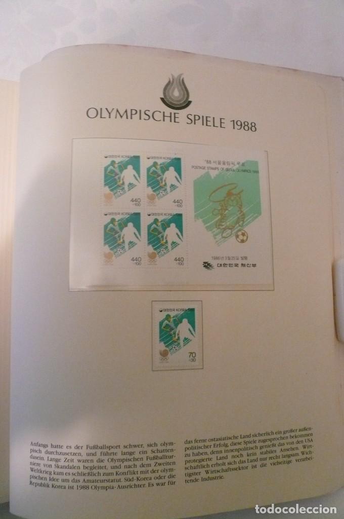 Sellos: 1 album de sellos de la olympiada 1988 seul de la empresa borek alemana - Foto 19 - 191596123