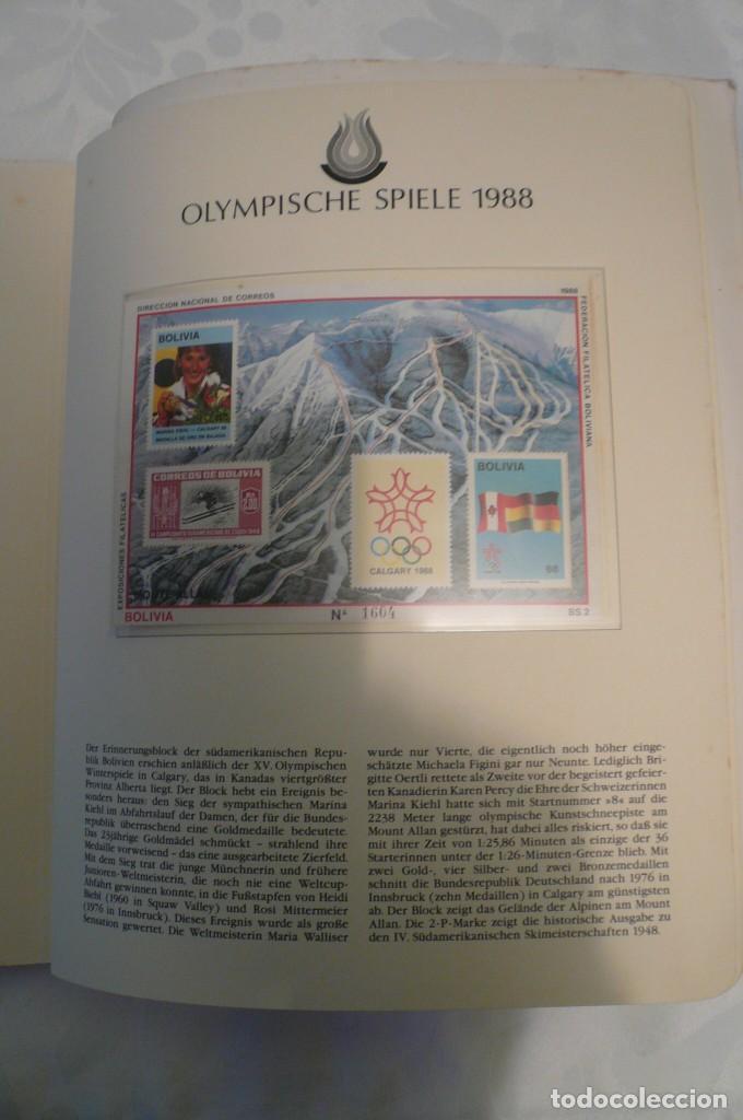 Sellos: 1 album de sellos de la olympiada 1988 seul de la empresa borek alemana - Foto 20 - 191596123