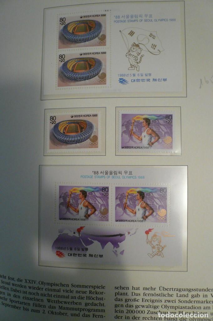 Sellos: 1 album de sellos de la olympiada 1988 seul de la empresa borek alemana - Foto 21 - 191596123