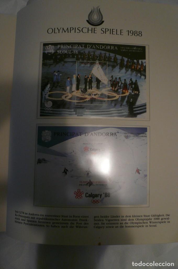 Sellos: 1 album de sellos de la olympiada 1988 seul de la empresa borek alemana - Foto 22 - 191596123