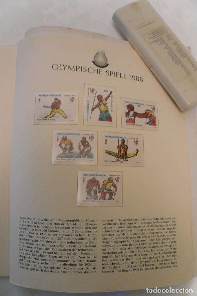 Sellos: 1 album de sellos de la olympiada 1988 seul de la empresa borek alemana - Foto 23 - 191596123