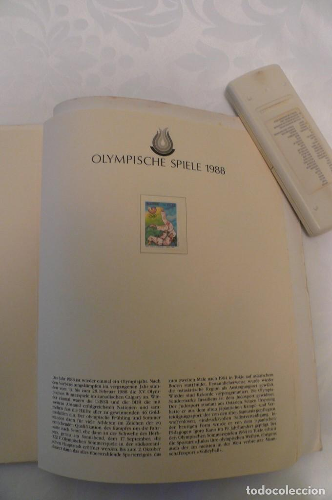 Sellos: 1 album de sellos de la olympiada 1988 seul de la empresa borek alemana - Foto 24 - 191596123