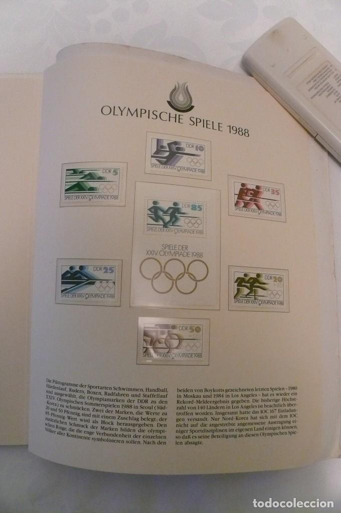 Sellos: 1 album de sellos de la olympiada 1988 seul de la empresa borek alemana - Foto 25 - 191596123