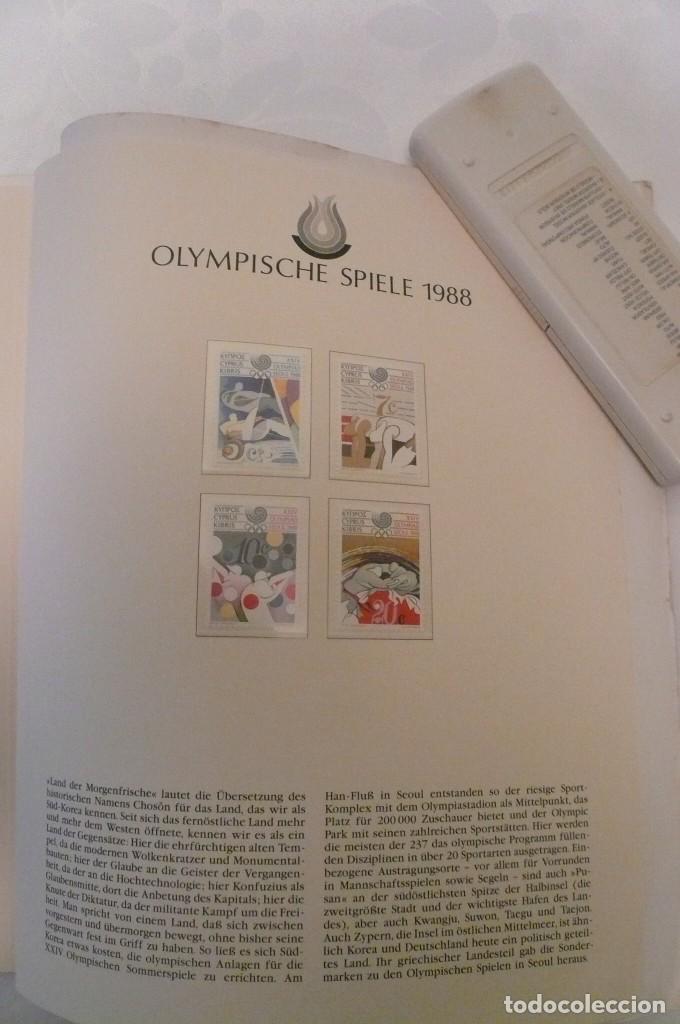 Sellos: 1 album de sellos de la olympiada 1988 seul de la empresa borek alemana - Foto 26 - 191596123