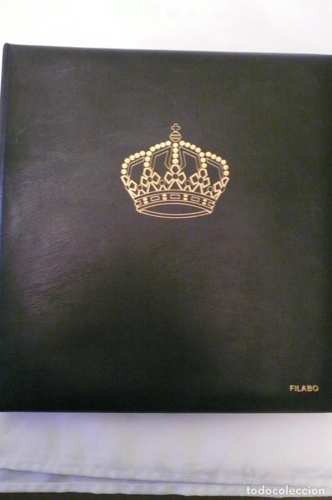 1 ALBUM DE SELLOS ESPAÑA AÑO 1976--1983 MONTADO VOSGOS 65 PAGINAS EN COLOR LOTE 1 SIN SELLOS (Sellos - Material Filatélico - Álbumes de Sellos)