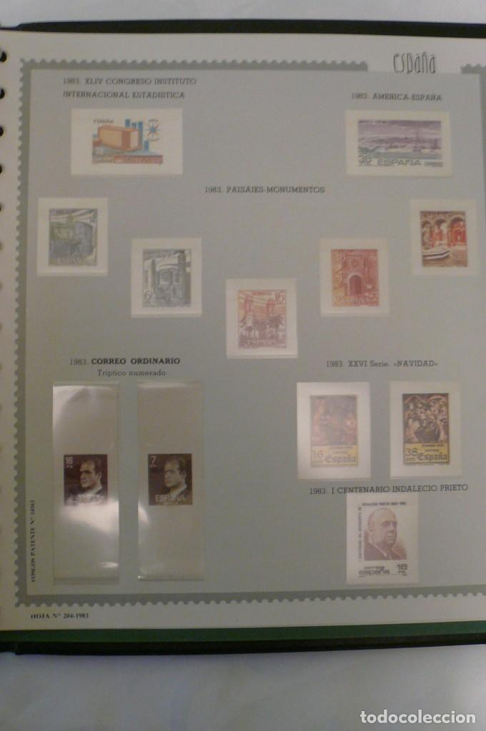 Sellos: 1 album de sellos españa año 1976--1983 montado vosgos 65 paginas en color lote 1 sin sellos - Foto 4 - 191597018