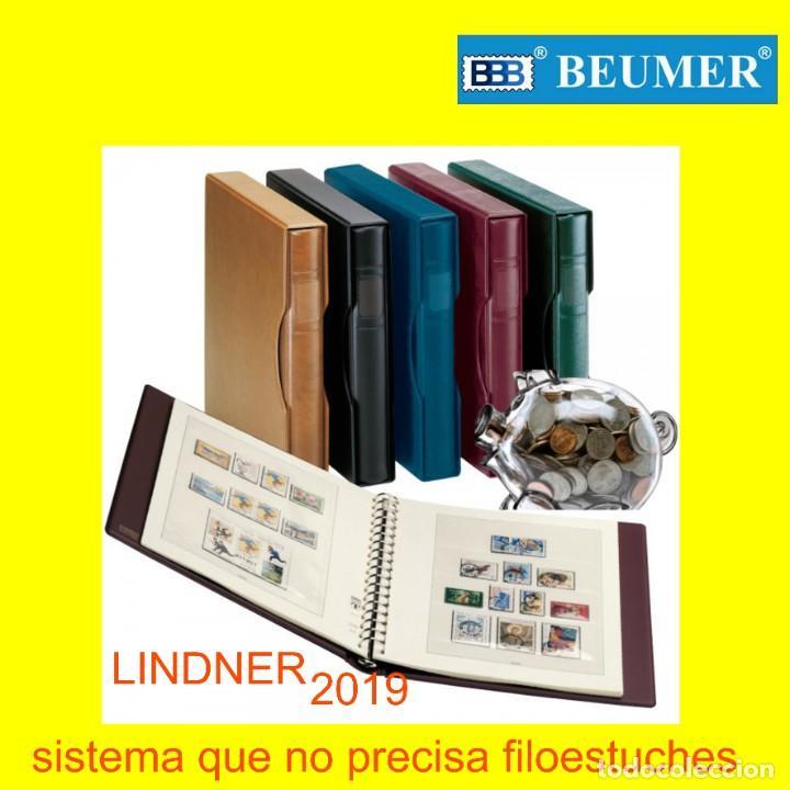 LINDNER, SUPLEMENTO SELLOS DE ESPAÑA. AÑO 2019. A COLOR. (NO PRECISA FILOESTUCHES). (Sellos - Material Filatélico - Álbumes de Sellos)