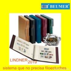 Sellos: LINDNER, SUPLEMENTO SELLOS DE BELGICA. AÑO 2019. A COLOR. (NO PRECISA FILOESTUCHES).. Lote 192460573