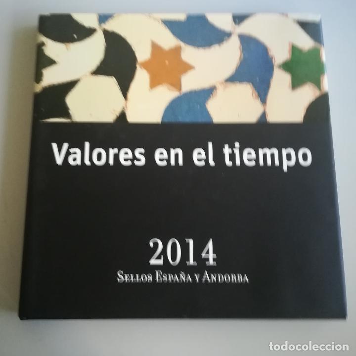 LIBRO DE SELLOS DE ESPAÑA Y ANDORRA 2014 SIN SELLOS (Sellos - Material Filatélico - Álbumes de Sellos)