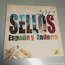 Sellos: LIBRO DE SELLOS DE ESPAÑA Y ANDORRA 2012 SIN SELLOS. Lote 194864003