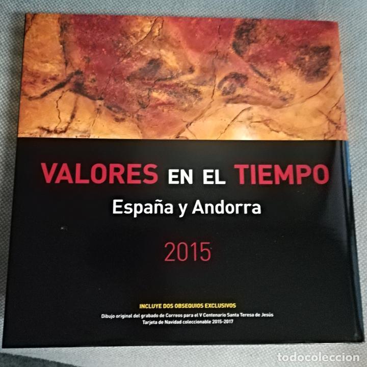 LIBRO DE SELLOS DE ESPAÑA Y ANDORRA 2015 SIN SELLOS (Sellos - Material Filatélico - Álbumes de Sellos)