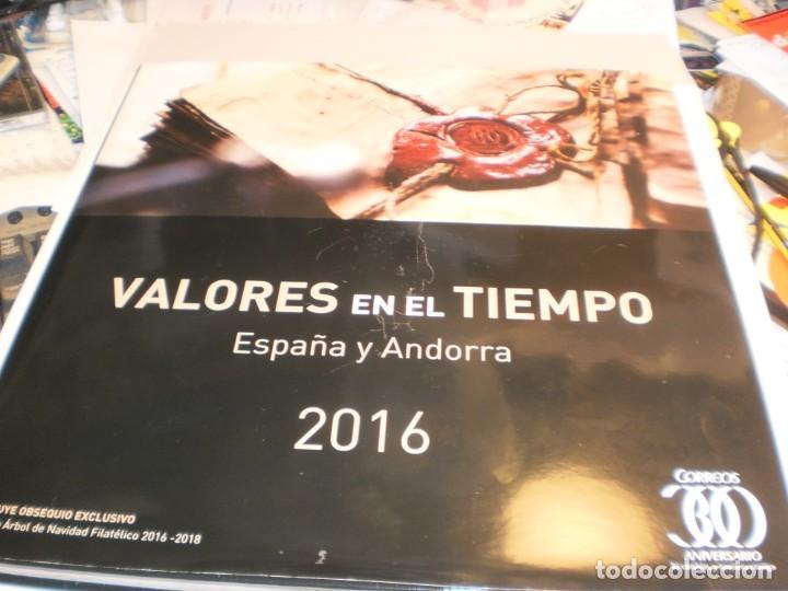 ÁLBUM DE SELLOS DE CORREOS ESPAÑA Y ANDORRA 2016 (VACÍO Y EN BUEN ESTADO DE CONSERVACIÓN) (Sellos - Material Filatélico - Álbumes de Sellos)